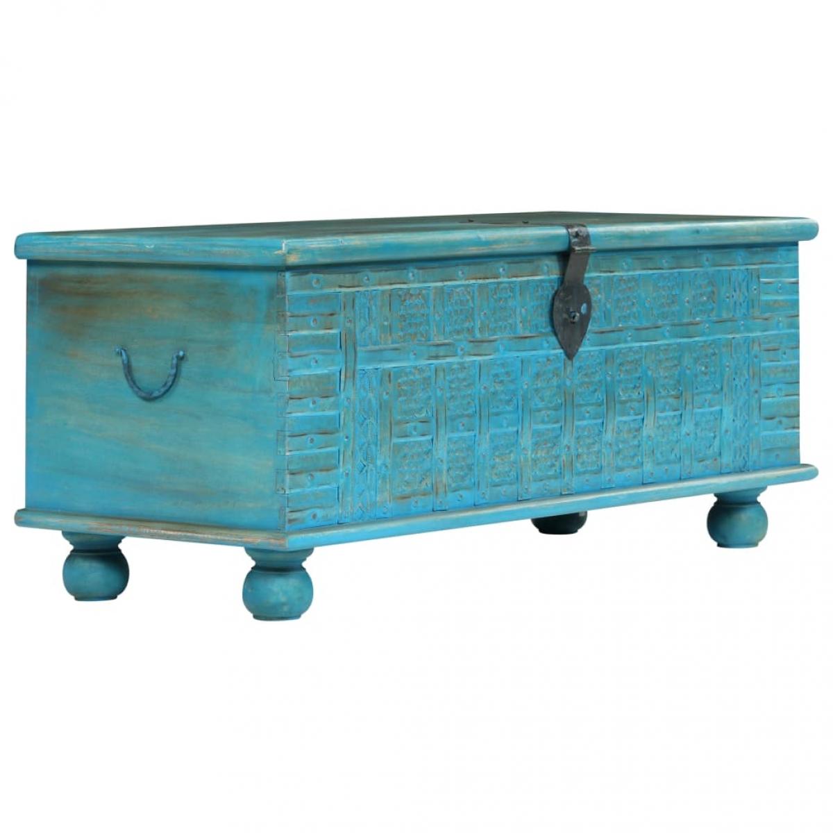 ξυλινο κουτι μπλε