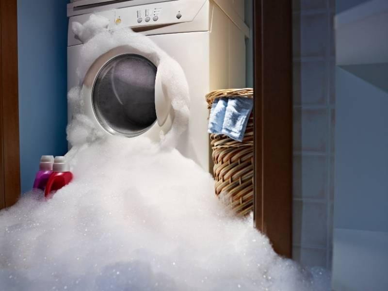 Διαρροή σε πλυντήριο ρούχων